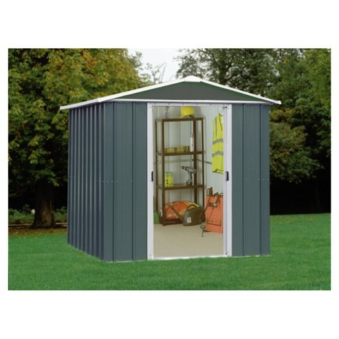 Buy yardmaster titan metal apex shed from our sheds range for Garden shed tesco