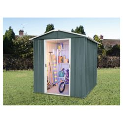 Yardmaster 6x8 Titan Metal Apex Shed with floor support frame