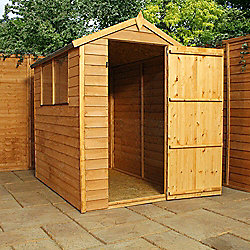 Mercia Apex Overlap Wooden Shed, 6x4ft