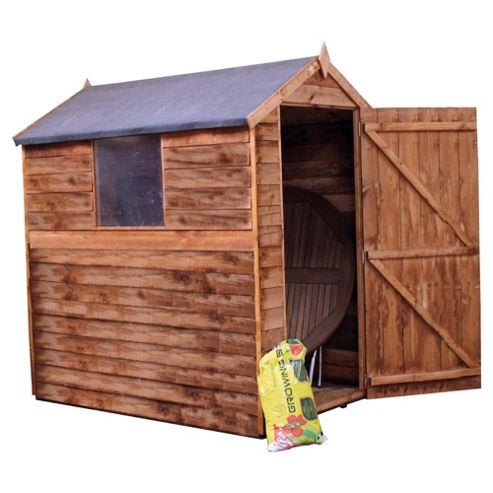 Buy mercia apex overlap shed from our wooden sheds range for Garden shed tesco