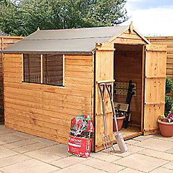 Mercia Apex Overlap Wooden Shed, 8x6ft