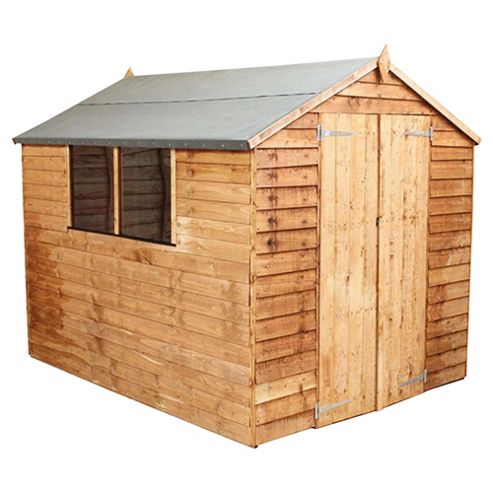 Buy mercia 8x6 overlap apex shed from our wooden sheds for Garden shed tesco