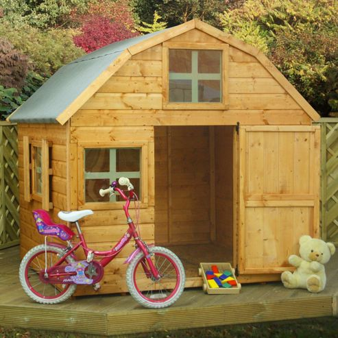 Mercia Dutch Barn Wooden Playhouse, 6ft x 6ft