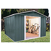Yardmaster Titan Metal Apex Shed with floor support frame, 10x8ft