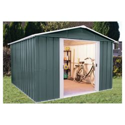 Yardmaster 10x8 Titan Metal Apex Shed with floor support frame
