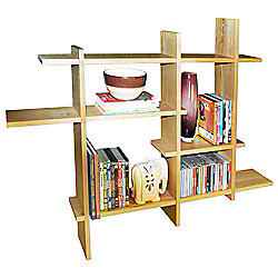 Lattice - Geometric Wall Display Storage Shelf - Natural
