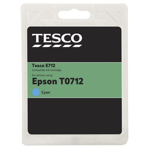 Tesco E322 Cyan Printer Ink Cartridge (Compatible with printers using Epson T0712 Cartridge)