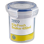 Tesco Klip Fresh 400ml Beaker Food Container