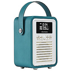 View Quest Retro Mini DAB+/FM Radio with Bluetooth (Teal)
