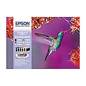 Epson T0807 Ink Cartridge  Black/Cyan/Magenta/Yellow