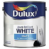 Dulux Matt Emulsion Paint, Pure Brilliant White, 2.5L