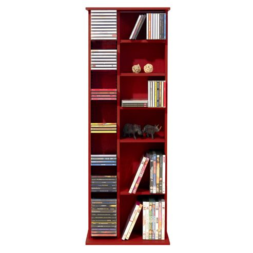 Techstyle CD / DVD / Video Multimedia Storage Unit - Mahogany