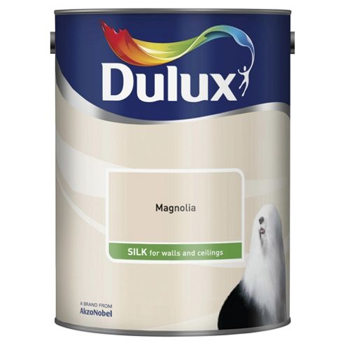 Dulux Silk Emulsion Paint, Magnolia, 5L