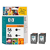 HP 56 Printer Ink Cartridge Twin Pack (C9502AE) - Black