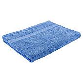 Tesco Hygro 100% Cotton Bath Sheet, Cotton Blue