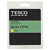 Tesco E342 Yellow Printer Ink Cartridge (Compatible with printers using Epson T0714 Cartridge)