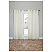 Canvas Lined Eyelet Curtains, Duck Egg (46 x 54'') - Ivory