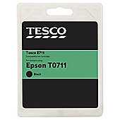 Tesco E312 Black Printer Ink Cartridge (Compatible with printers using Epson T0711 Cartridge)