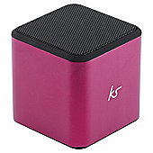 KitSound Cube Portable Mini Speaker, Pink