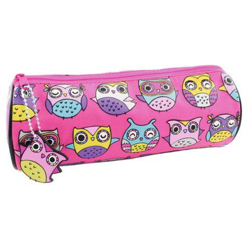 Owls Barrel Pencil Case