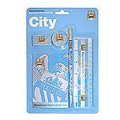 Manchester City FC Stationery Set 5 Piece