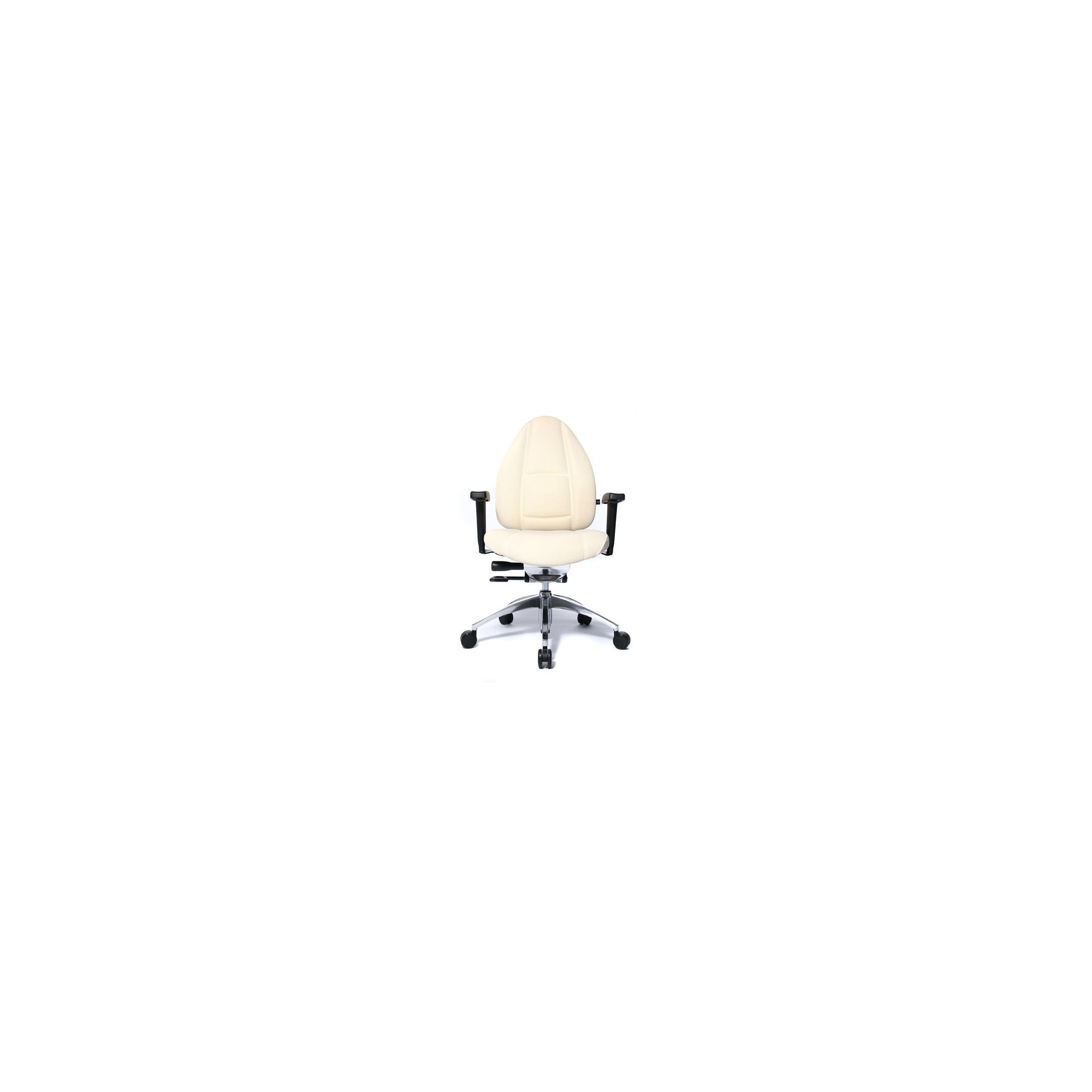Topstar Open Base S Office Swivel Chair - Creme at Tesco Direct