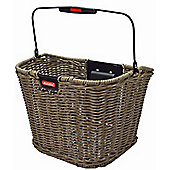 Rixen & Kaul Structura Retro Front Basket: Olive Brown.