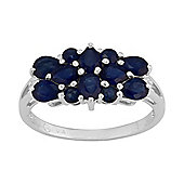 Gemondo Sterling Silver 1.80ct Natural Blue Sapphire & 1pt Diamond Classic Dress Ring