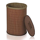 Möve Crush Oval Laundry Basket in Wood