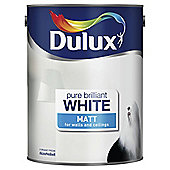 Dulux Matt Emulsion Paint, Pure Brilliant White, 5L