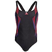 adidas Infinitex Tech Range One Piece Womens Ladies Swimsuit - Black