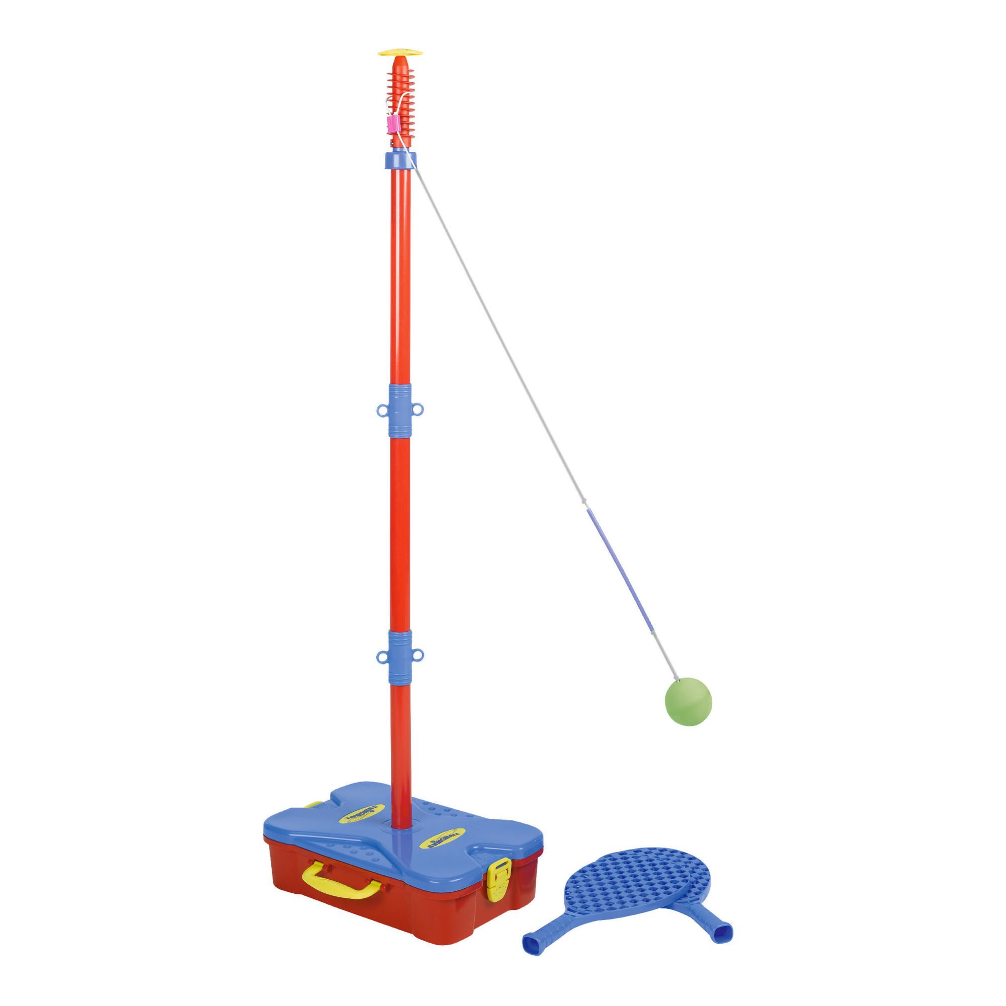 Smaller version of the classic garden game this first swingball set
