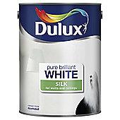 Dulux Silk Emulsion Paint, Pure Brilliant White, 5L