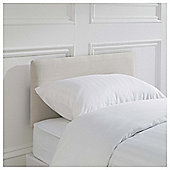 Seetall Mittal Headboard Linen Effect Cream Single