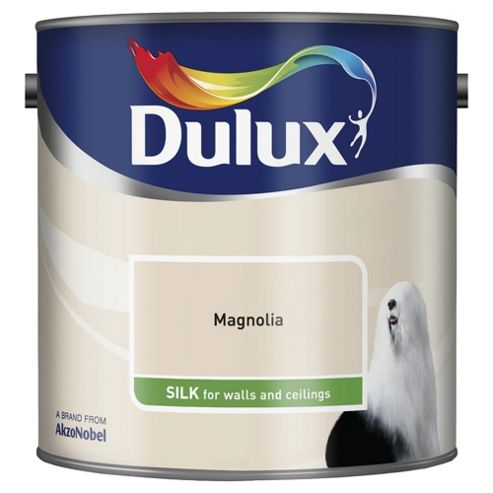 Dulux Silk Emulsion Paint, Magnolia, 2.5L