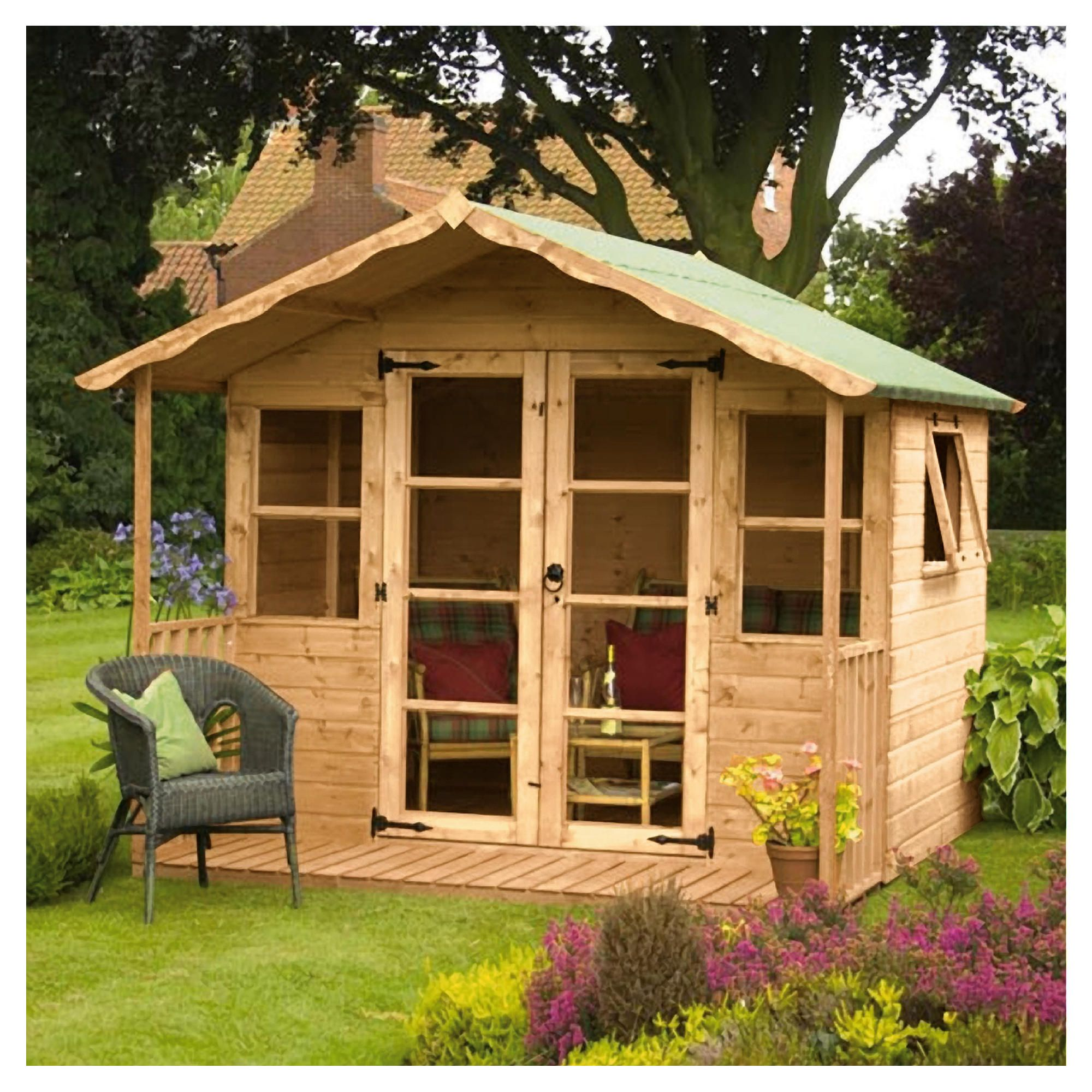 10 x 8 Summerhouse with Veranda at Tesco Direct