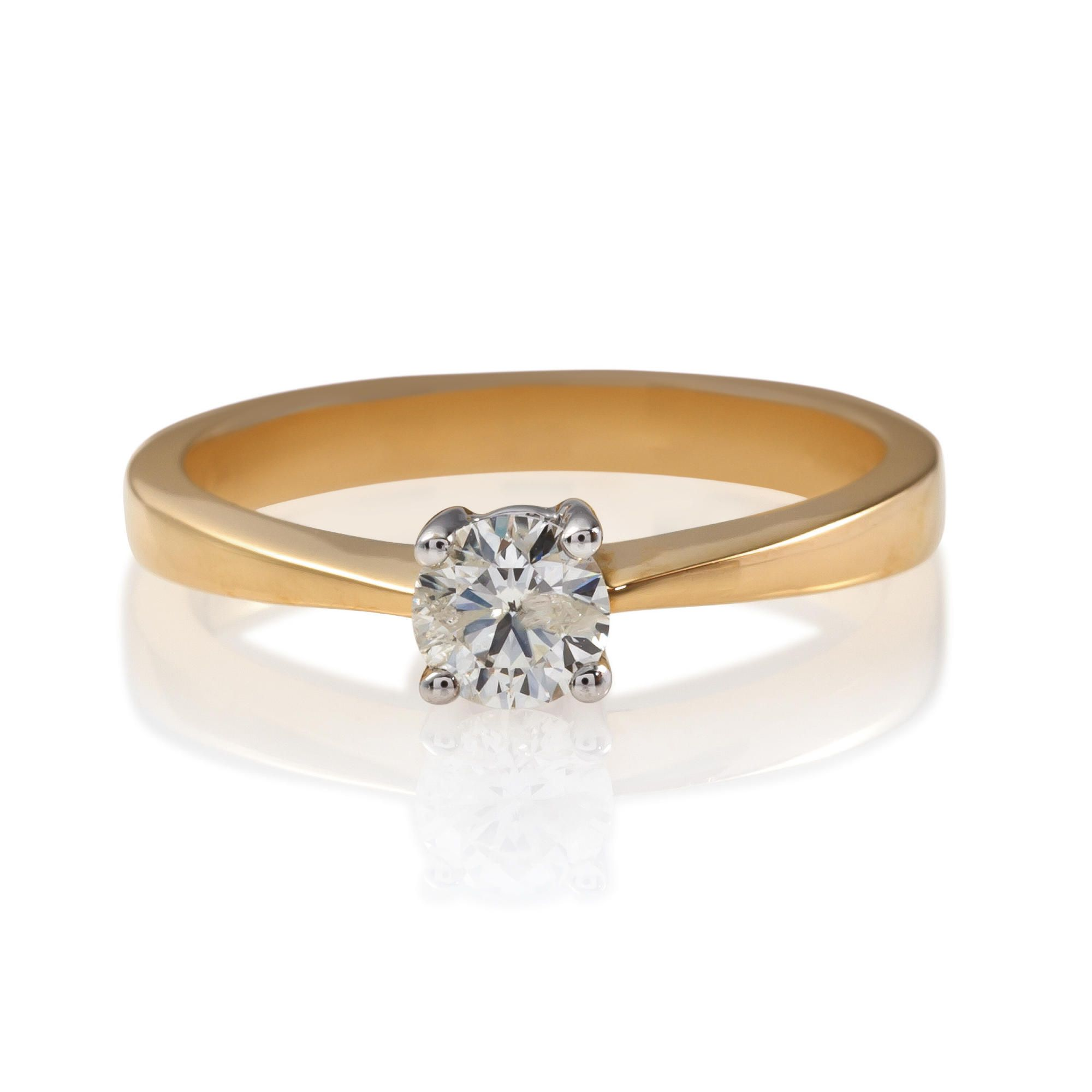 18ct Gold 50Pt Diamond Solitaire Ring, P at Tesco Direct