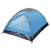 Tesco Basics 2-Man Blue Dome Tent