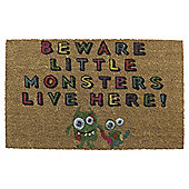 Tesco Coir Mat 45x75cm - Beware little monsters
