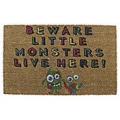 Tesco Coir Mat 45x75cm - Beware little monsters