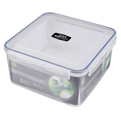 Tesco Klip Fresh 5L Square Food Container