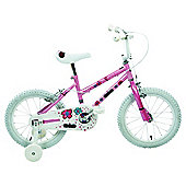 "Pink Angels 16"" Kids' Bike - Girls with stabilisers"