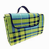 Country Club Family Size Beach & Picnic Blanket 150 x 200cm, Blue Check