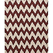 Think Rugs Hong Kong Rust/Beige Tufted Rug - 150 cm x 230 cm (4 ft 11 in x 7 ft 7 in)