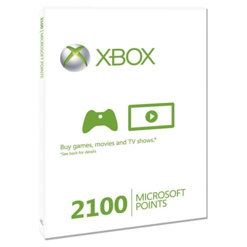 Buy Xbox Live - 2100 Microsoft Points. from our Points ...