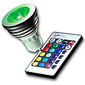 4W Multicolour LED Bulb and Remote Control