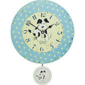 Roger Lascelles Clocks Spot My Dog Pendulum Wall Clock