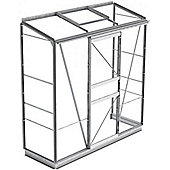 Simplicity Mini Lean-to Plain Aluminium Greenhouse With Horticultural glass