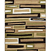 Think Rugs Matrix Beige/Green Rug - 160 cm x 220 cm (5 ft 3 in x 7 ft 3 in)
