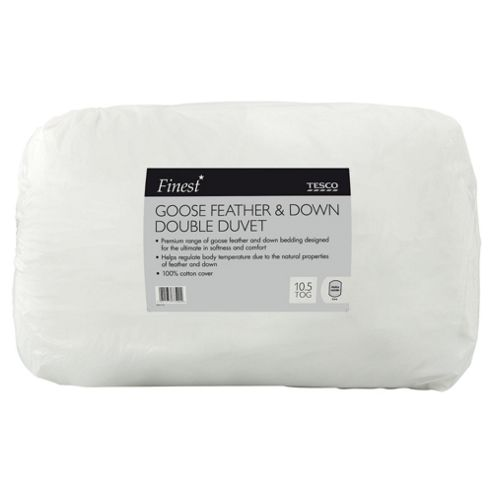 Finest Goose Feather Down Duvet, 10.5 Tog, Double